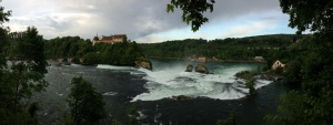 My morning run in Schaffhausen, Switzerland led me to the beautiful Rhine Falls