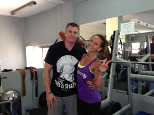 Nick and sweatin' it up at Mainas gym. This pic has taken by a Canadian holiday goer.