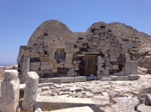 Built originally around 3 A.D, the church at the entrance to Ancient Thera was a historical masterpiece