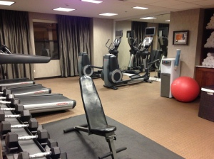 The modest (but effective!) fitness centre at Hotel Felix, Chicago