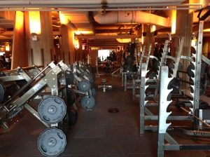 I had died and gone to gym heaven at the David Barton Gym at 600 Chicago Ave W. And this was only the legs area...