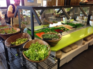 The salad bar in Groupon's cafeteria. Awesome!