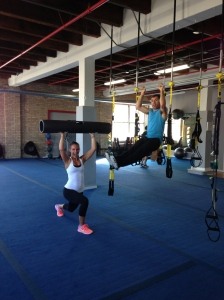 Hanging around with our trainer, Jared