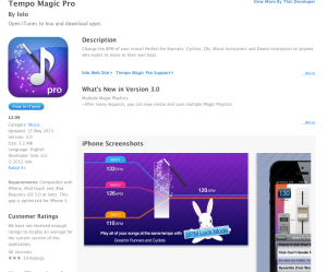 You can download Tempo Music Pro from iTunes for £2.99